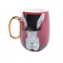 Gold Rabbit Handle Coffee Mug. Single Piece