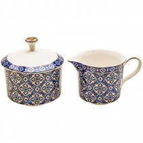 Blue Diamond Sugar & Creamer Bowl