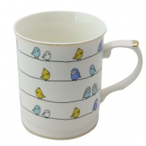 Birds Friends Princess Mugs, Set of 4