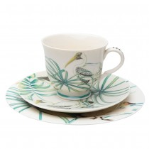 Lakeside Bird Cup with Saucer.Set of 4