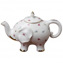 Happy Elephant Spray Floral Teapot