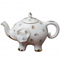 Happy Elephant Petite Pansy Floral Teapot