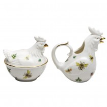 Dragonfly Hen Sugar Creamer Set