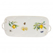 Crafted Gold Bee Lemon Serving Leave Tray.