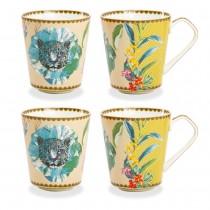 Wild Summer Green Coffee/tea Mugs, Set of 4