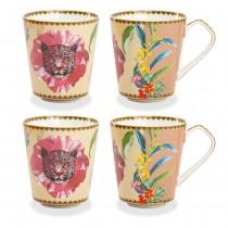 Wild Summer Pink Coffee/tea Mugs, Set of 4