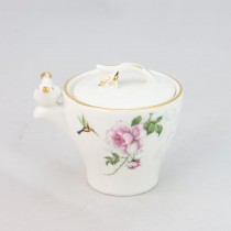 Crafted Gold Songbird Sugar and Creamer Set