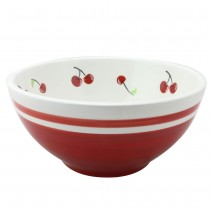 Red Cherry 9.75-inch Serving Bowl. Set of 2