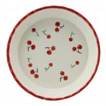 Red Cherry 10-inch Pie Dish