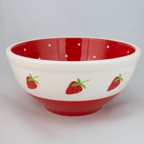Red Strawberry 9.75in Mixing Bowl, Set of 2