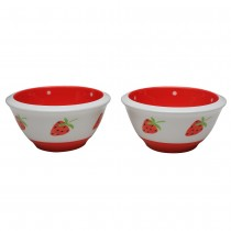 Red Strawberry Prep Bowl 6 Piece Set