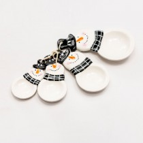 Black Snowman  Measuring Spoon Set