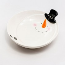 Black Snowman Pasta Bowls, Set of 2