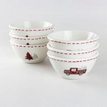 Farm House Christmas Prep Bowls, 6 Piece Set