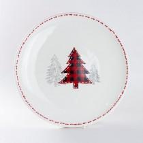 Farm House Christmas Tree Dinner Plates, Set of 4