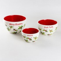 Holly Chintz 3 Piece Mixing Bowls