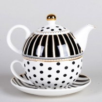Black Gold Josephine  4 Piece Tea for One Boxed
