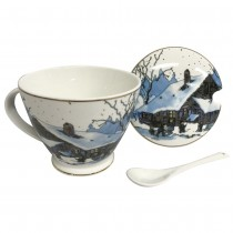 Mountain Night Mug & cover & spoon 3 pc Set