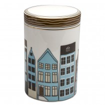Turq Houses Porcelain Lid Canister