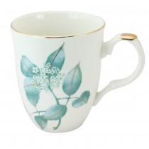 Mint Leaf Scallop Mugs, Set of 4