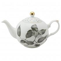 Black Metallic Leaves Teapot