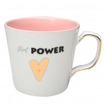 """Girl Power"" Coffee Mugs, Set of 4"