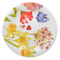 Butterfly Garden 4 asst  Dessert Plates.Set of 4