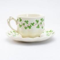 Clover Vine Tea/coffee Cup Saucer, Set of 4