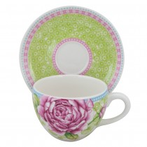 Butterfly Joy Cups with Saucers, Set of 4