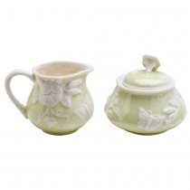 Green  Morning Glory Butterfly Sugar Creamer