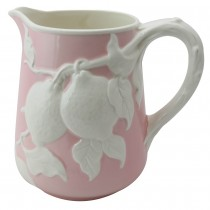 Pink Craft Floral Pitcher