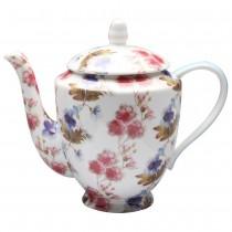 Blue Red Vine Teapot