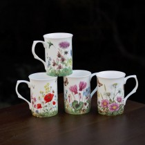 4 Assorted Meadow Can Mugs, Set of 4
