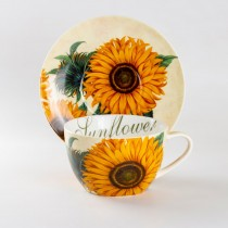 Sunfloral Jumbo Cup and Saucer, Set of 4