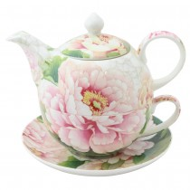 Empire Peony 4 Piece Tea for One