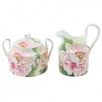 Bone China Empire Peony Sugar Creamer Set