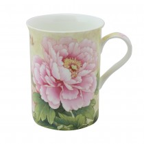 Bone China Empire Peony Tea Mugs, Set of 4
