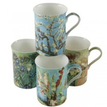 4 Assorted Impression Memory Can Mugs, Set of 4
