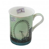 Paris Ferris Wheel Mug, Set of 4