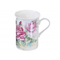 English Climb Rose Mug, Set of 4