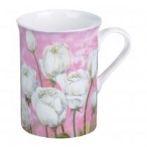 Tulip/Pastel Yellow Can Mugs, Set of 4