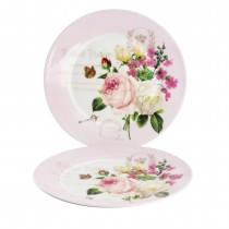 Liz Garden Dinner Plate Plates, Set of 2