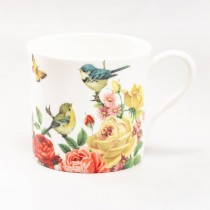 Liz Garden Yellow Mugs, Set of 4