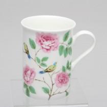 Happy Bird Bone China Mugs, Set of 4