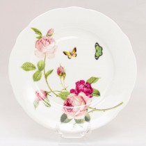 Kensington Pink Rose Dessert Plates, Set of 4