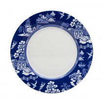 Blue Willow Bone China White/Blue Salad Plates, Set of 4