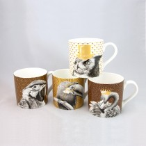 4 Associate Imperial Animals Mugs, Set of 4