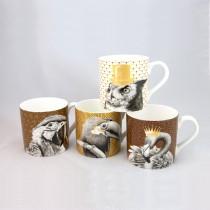 4 Associate Imperial Animals Mugs, Set of 4