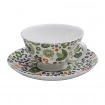 Prarie Ditsy Cup & Saucer, Set of 4