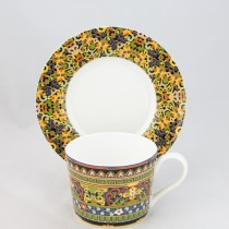 Golden Moroccan Coffee Cup Sacuer, Set of 4